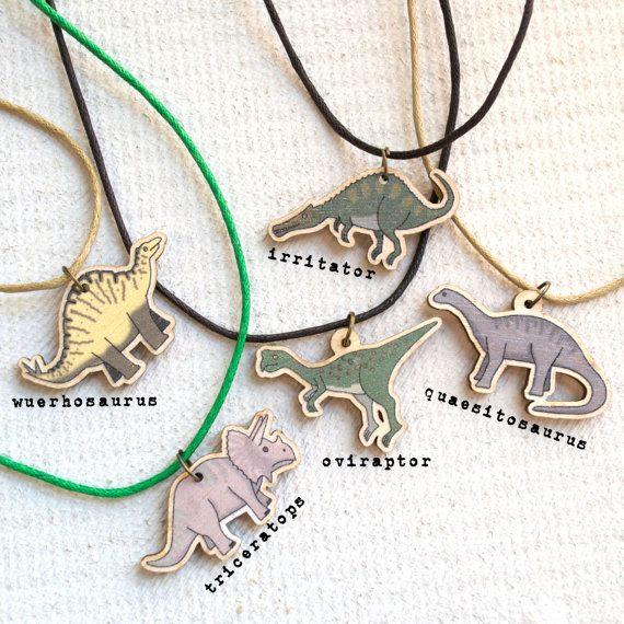 Dinosaur Necklace dinosaur gift children's by BeckaGriffin