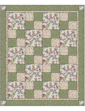 LIFE IS TWEET SEW QUICK 3 YD QUILT KIT 48 x 58 inches