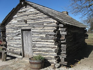 "Reconstruction of the ""Little House on the Prairie"" in Kansas."