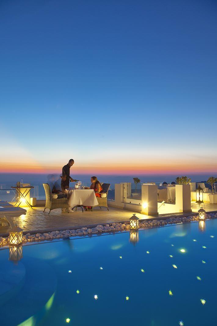 Romantic Escape: Above Blue Suites, Santorini, Greece  #jetsettercurator