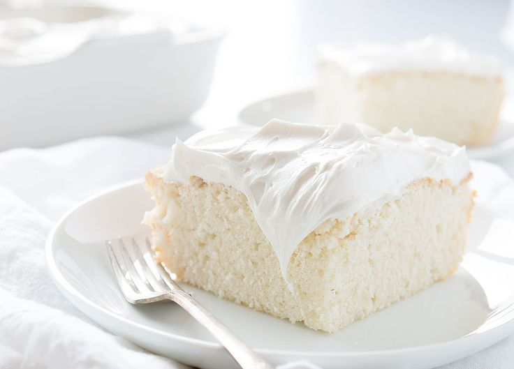 This delicious white cake hits the spot when you have a craving for cake!