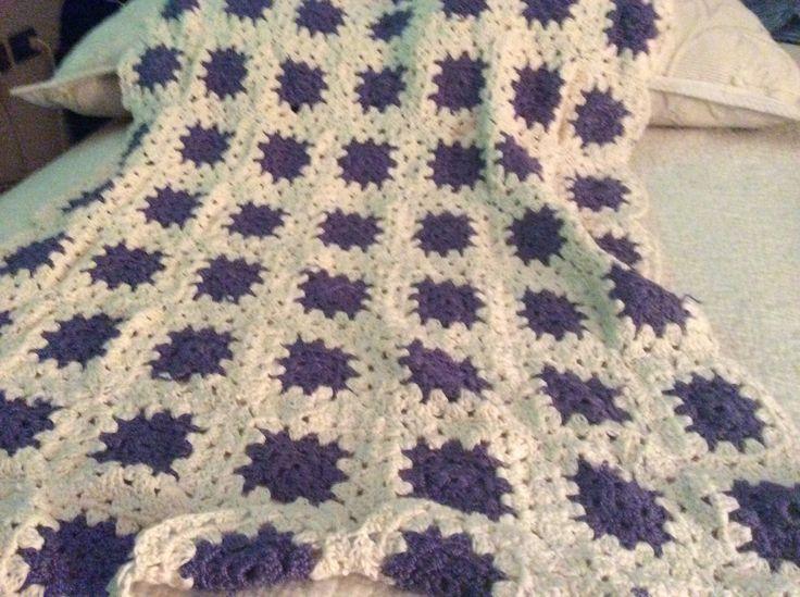 Manta a crochet Mis creaciones