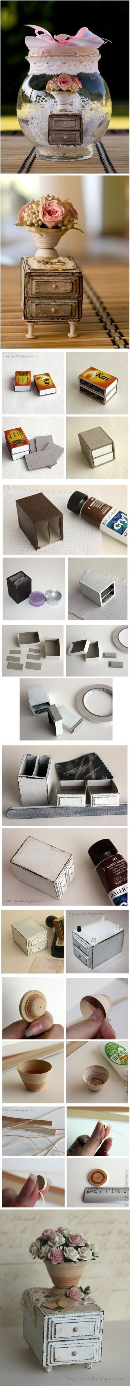 Furniture that is made from matchboxes is nice and very creative. You can...