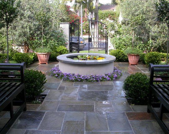 1000 images about courtyard landscaping on pinterest for Courtyard stone landscape