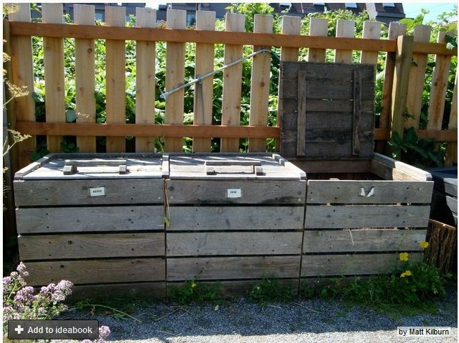 Compost Bin Idea Green Material (nitrogen Rich): Kitchen Scraps (vegetable  And Fruit