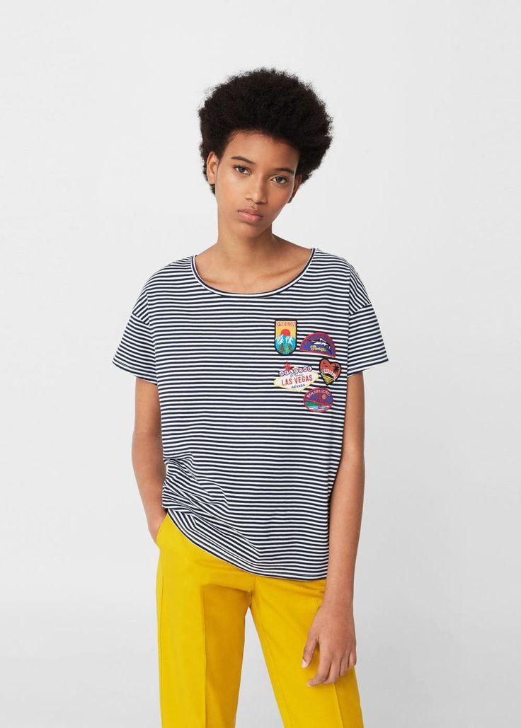 Μπλουζάκι διακοσμητικά μπαλώματα | MANGO ΜΑΝΓΚΟ
