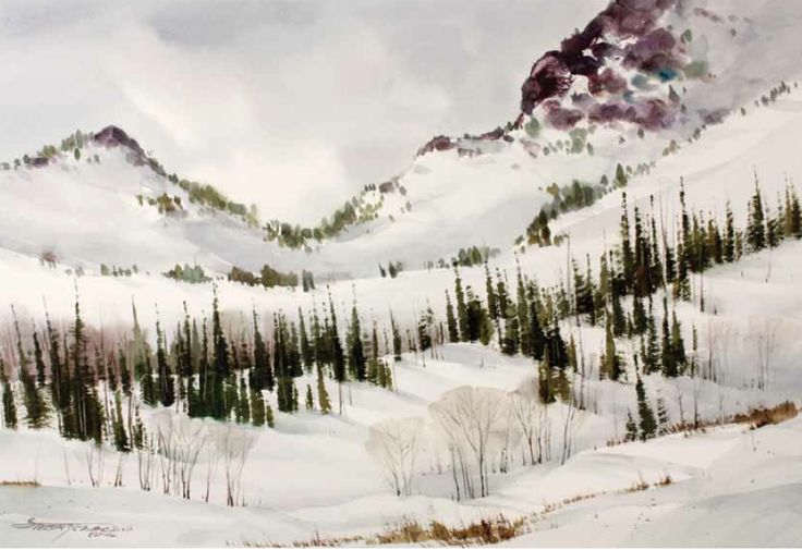 How to Paint Watercolor Landscapes from YOUR Photos | Snow, Style ...
