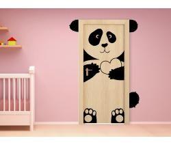 Décorez la chambre de vos enfants avec ce sticker portes panda mignon. Vos enfants vont l'adorer ! #panda #stickers #enfants #bimago #stickersmuraux #stickersportes #stickerpanda #décorationchambreenfants #stickersenfants