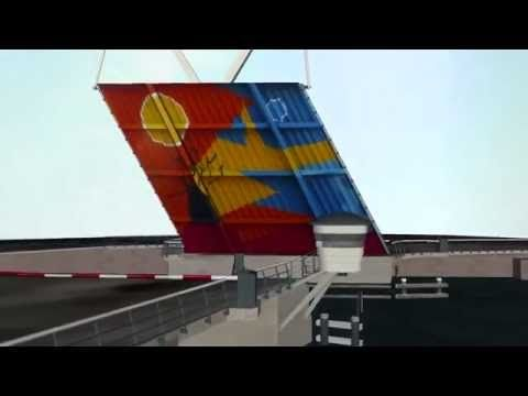 Verfroller - Brug in Haarlem - 3D animatie - YouTube