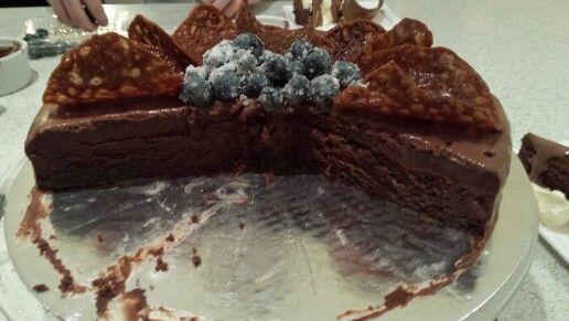 Black Dahlia chocolate cake.