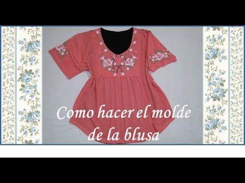 ♥ Como hacer el molde de una blusa bordada ♥