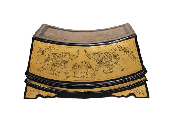 Southeast Asian Decorative Box. Burmese Lacquerware by SiamSawadee, $149.89