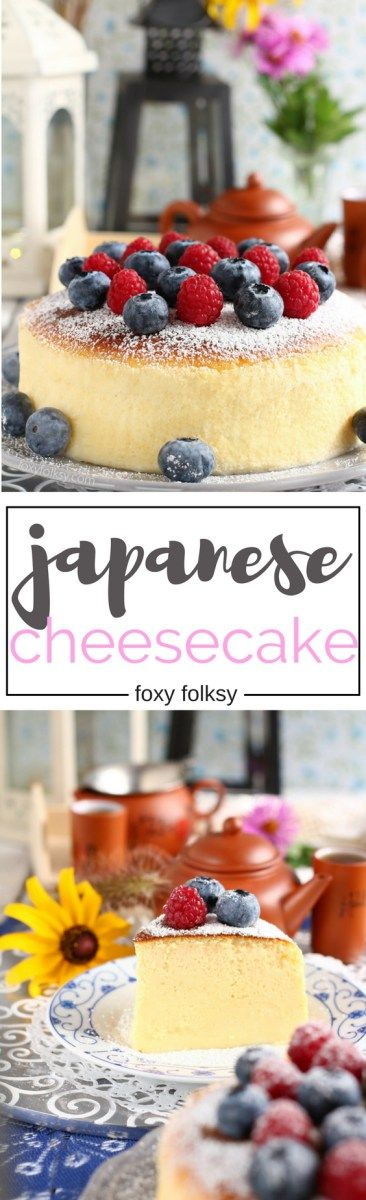 Try this Japanese Cheesecake or cotton cheesecake recipe for a super fluffy, light-as-air cheesecake you will ever make. | www.foxyfolksy.com http://amzn.to/2s1IlgQ
