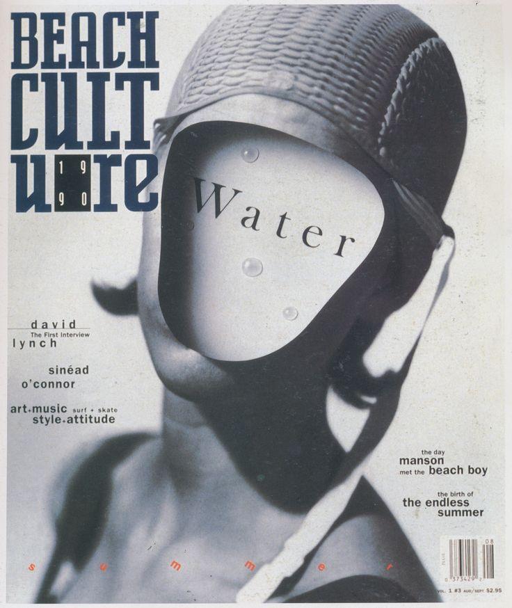 David Carson (designer), Beach Culture vol1 #3 magazine cover, 1990