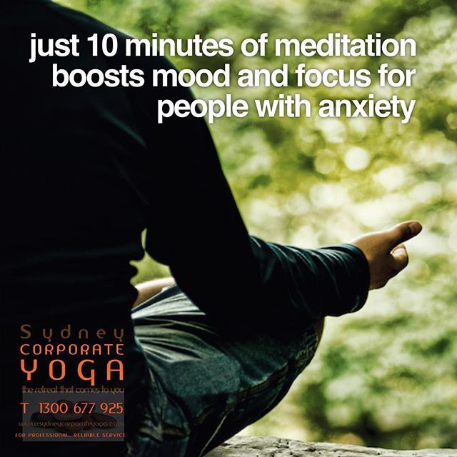 Just 10 Minutes of Meditation Boosts Mood and Focus for People With Anxiety http://bit.ly/2rVzoHC