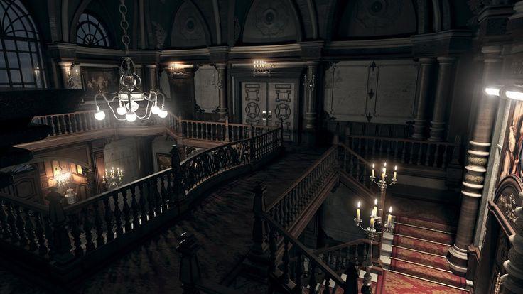 Resident evil Mansion HD remake render 4K-2 3dsmax2014&vray3.2&Photoshop