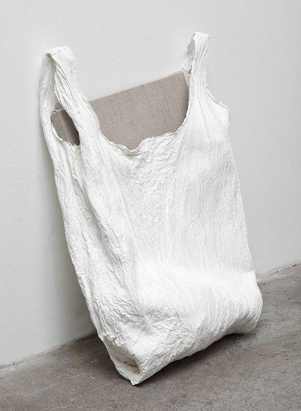 Textured white shopper | Analia Saban.