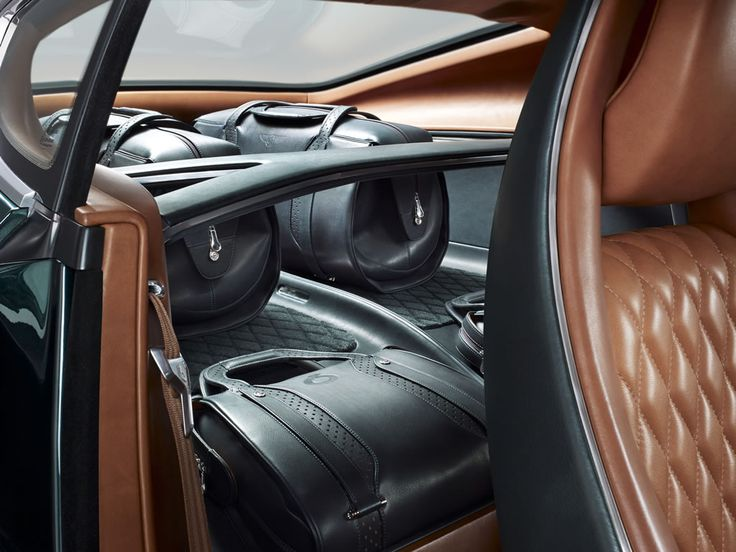 Rear Compartment With Luggage In A Bentley EXP 10 Speed 6 Concept Car