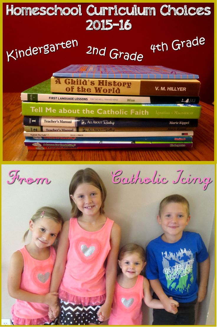 Homeschool Curriculum Choices 2015-16 from Catholic Icing {Preschool, Kindergarten, 2nd Grade, and 4th Grade}