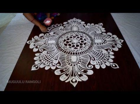 Super Easy Circle Rangoli Designs|Creative Rangoli by Shital Mahajan. - YouTube
