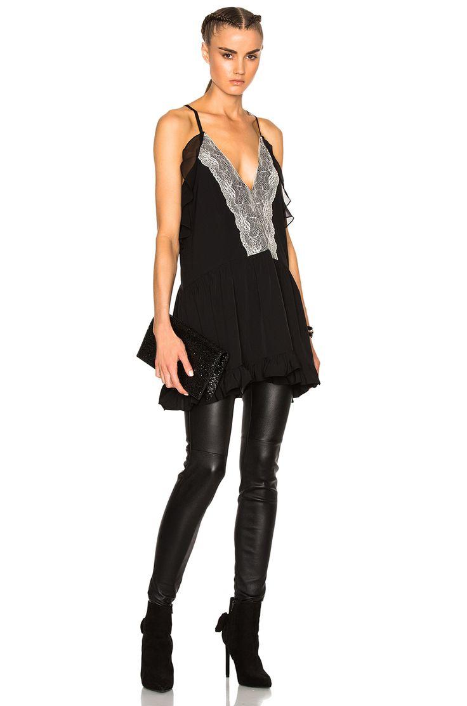 Image 1 of IRO Bellie Top in Black & Ecru