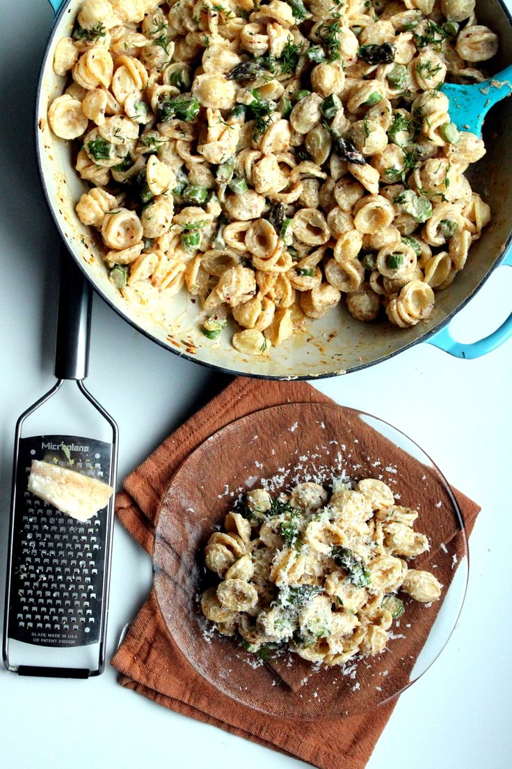 Orecchiette with Asparagus, Ricotta, and Lemon — Whole Nourishment