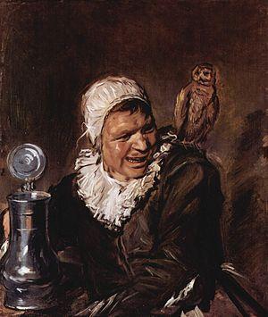 Malle Babbe - de heks van Haarlem. Schilderij van Frans Hals.