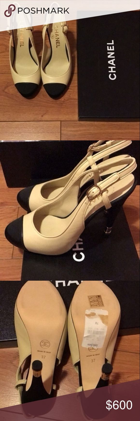 Chanel heels Chanel two tone heels CHANEL Shoes Heels