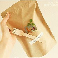 Embalagem de presente saco de papel ofício vegetal Standup Kraft sacos de papel marrom Zip Lock saco de papel Food Container 15 * 21 cm(China (Mainland))