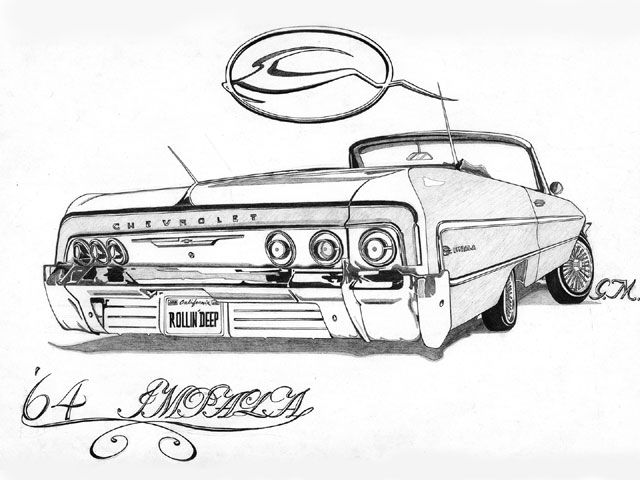 Black And White Car Tail Chicano
