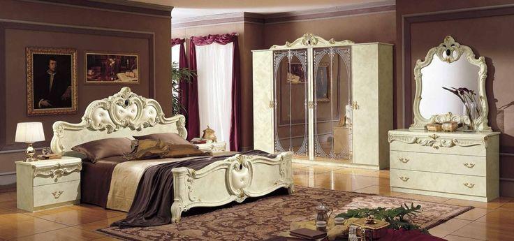 Έπιπλα Σπιτιού - Κλασικό Υπνοδωμάτιο Barocco Ivory