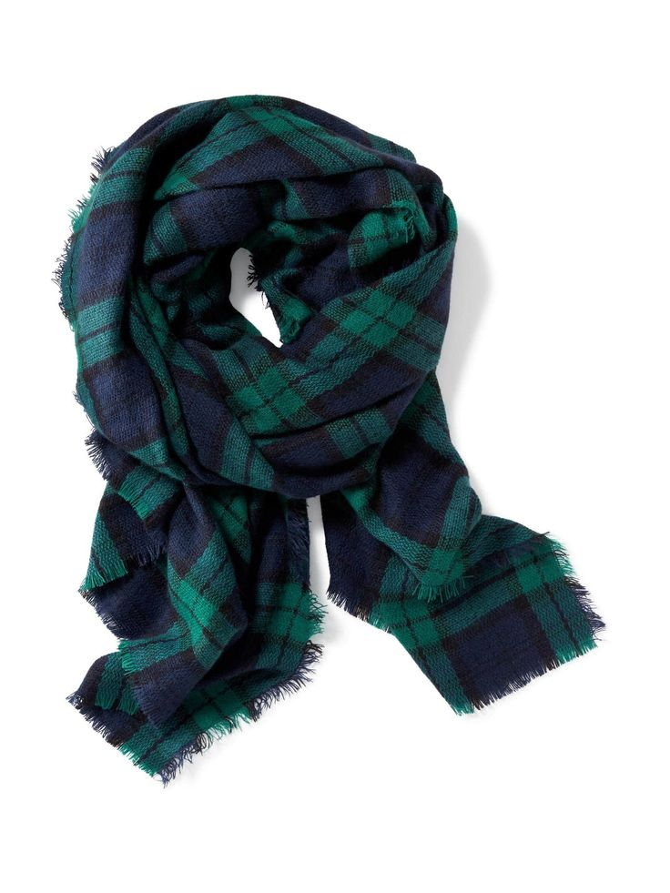 Fun oversized flannel scarf //