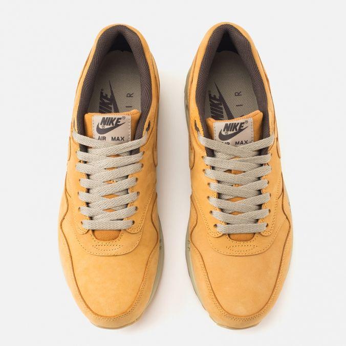 Мужские кроссовки Nike Air Max 1 Premium Leather Wheat Pack Bronze/Baroque Brown фото-4