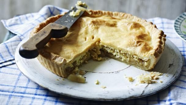 Make time for a lazy afternoon of cooking with Simon Hopkinson's homemade cheese and onion pie recipe.