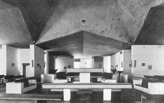 Iglesia Ntra. Sra. de Fátima, en Martínez, Prov. de Buenos Aires Eduardo Ellis-Claudio Caveri 1950 aprox.