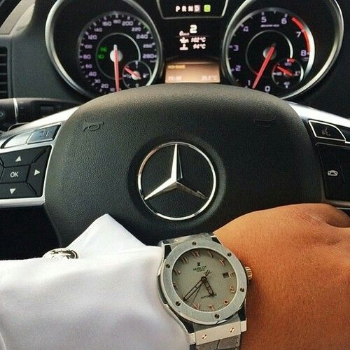 Hublot and mercedes watch lifestyle pinterest for Mercedes benz 18k gold ring