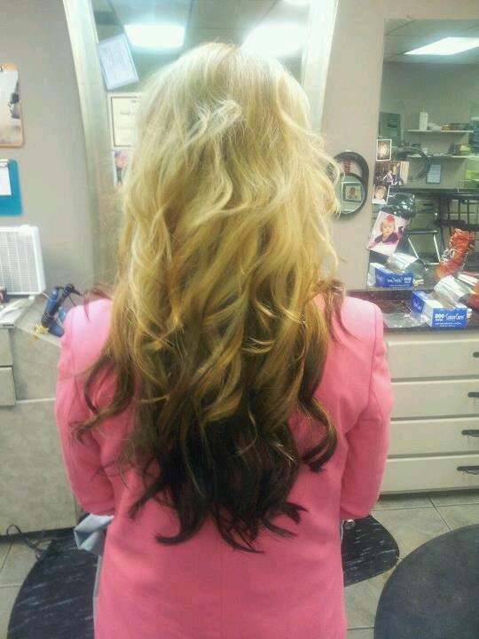 Reverse ombre on Sarah...