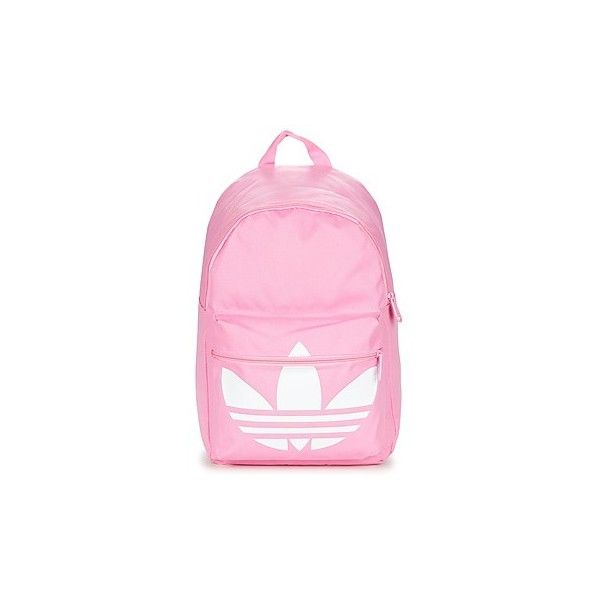 adidas BP TREFOIL Backpack (£28) ❤ liked on Polyvore featuring bags, backpacks, backpack, pink, pink backpack, knapsack bag, adidas, adidas bag and rucksack bag