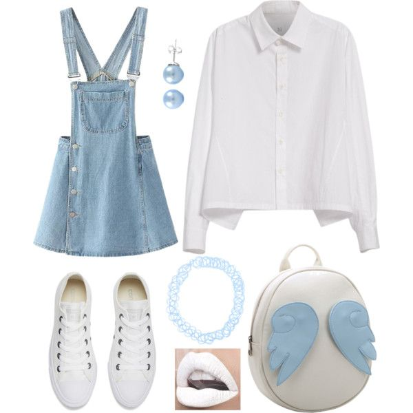 Untitled #11 by pastellilapsi on Polyvore featuring Y's by Yohji Yamamoto, Converse and Chicnova Fashion