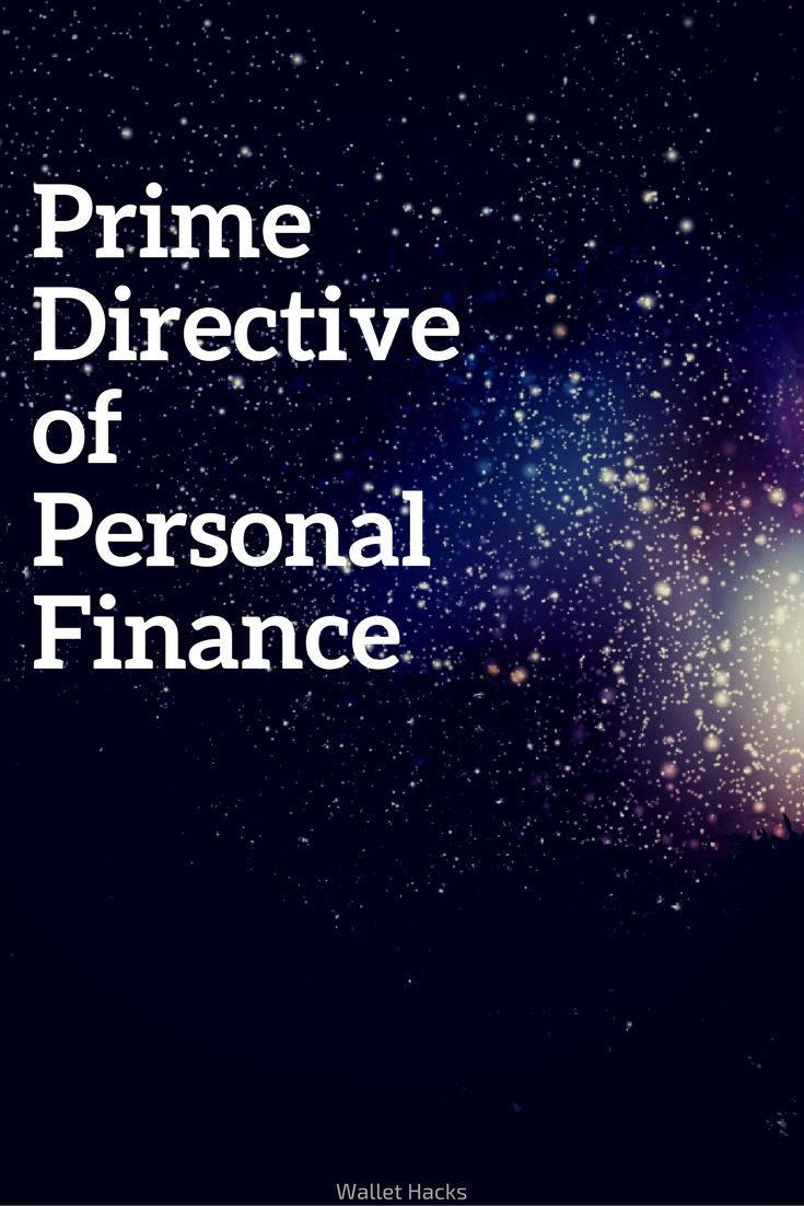 80% of all personal finance can be distilled down to one line - I call it the Prime Directive of Personal Finance. | personal finance tips and tricks | how to manage your finances | how to keep track of your personal finances | tips for personal finance || Wallet Hacks