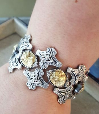 925 Ayar Gümüş Elizabeth Desenli Bileklik