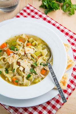 Chicken Noodle Soup {I sure could have used this recipe this week!)