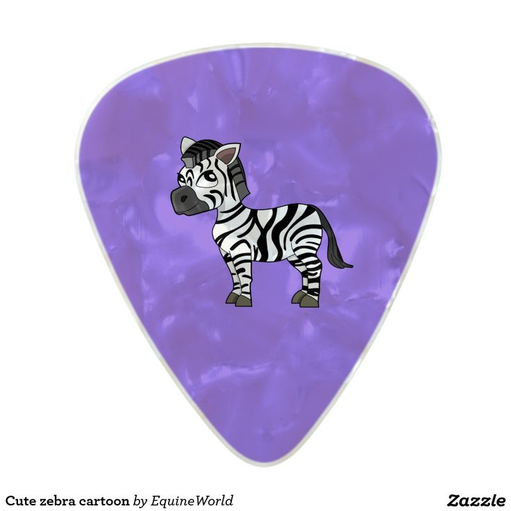 Cute zebra cartoon pearl celluloid guitar pick