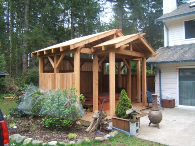 Hot tub enclosure backyard ideas pinterest tub for Hot tub enclosures plans
