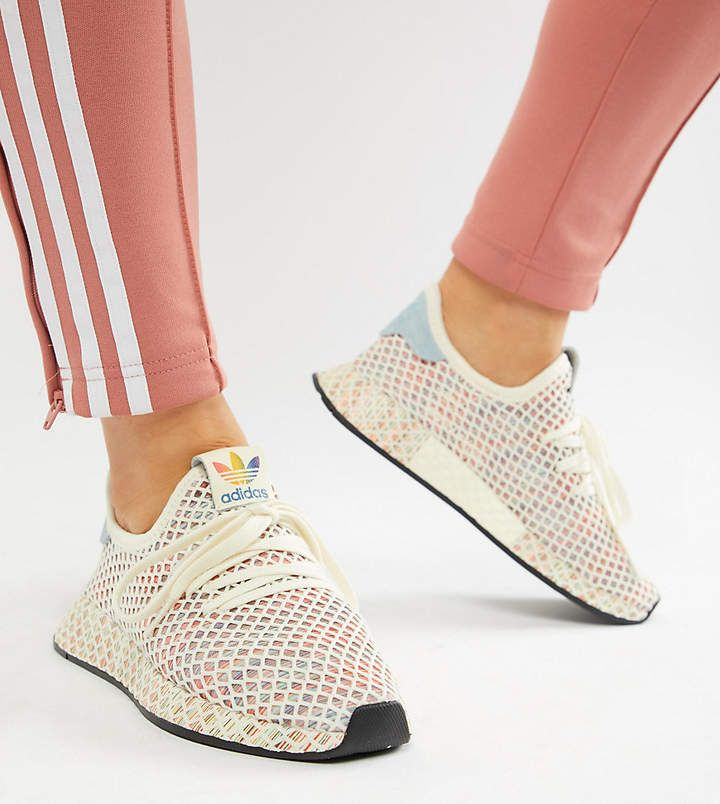 adidas Originals Pride Deerupt Sneakers In Rainbow Mesh