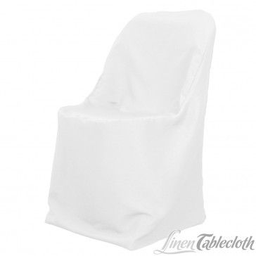 Polyester Folding Chair Cover White on a Folding Chair 1.99 ea excellent reviews