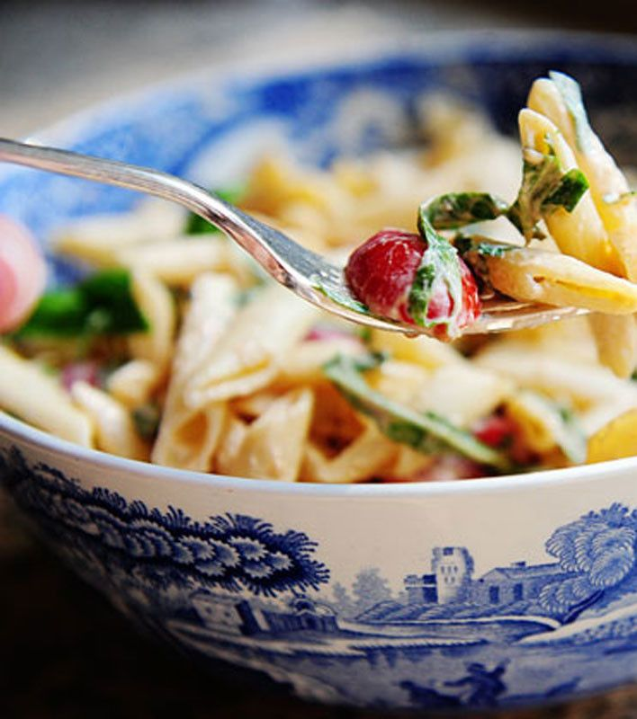 Spicy Pasta Salad with Smoked Gouda-