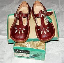Clarks 'Joyance' T-bar sandal - 1930s - 1970s. Miss Chivers  childhood was spent in these.