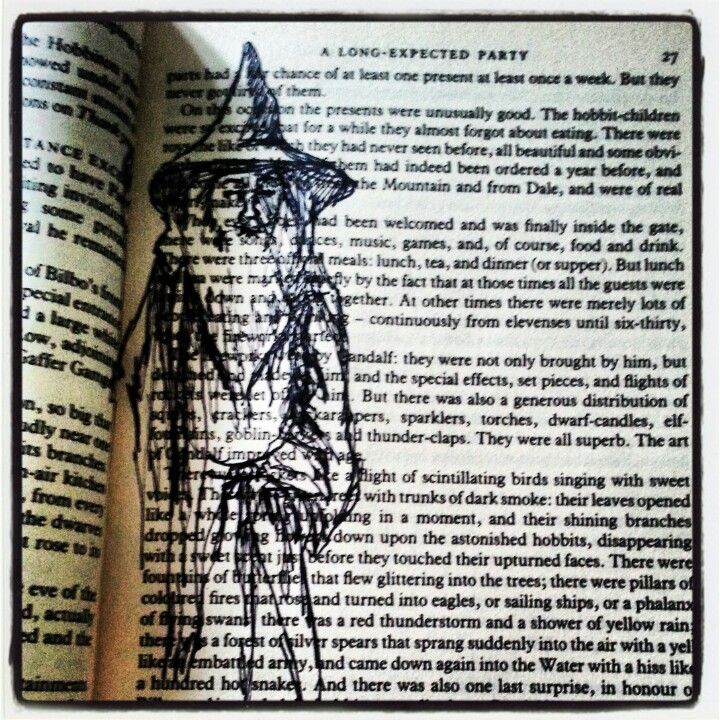 Hobbit / lord of the rings book illustration diy