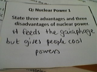 Advantage and disadvantage of nuclear power.  The fayz